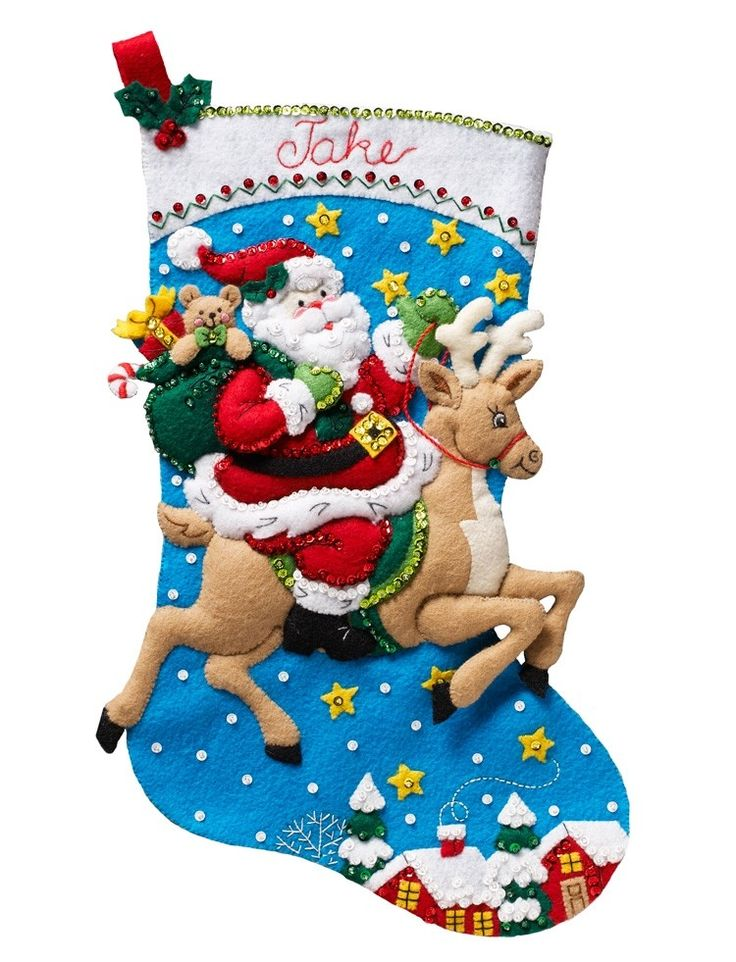 Best 25 christmas stocking kits ideas on pinterest diy for Felt stocking decorations