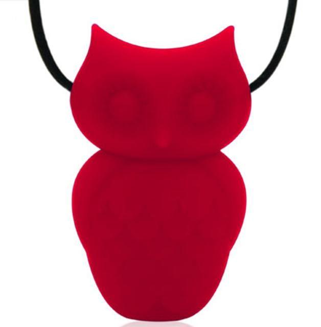 Collier de dentition hibou - Rouge