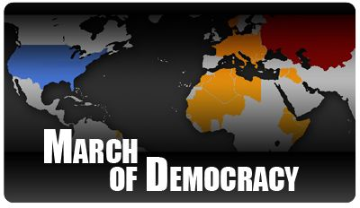 AWESOME animated maps of the spread of war, democracy and religion. Let's your students SEE history happening :D