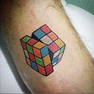 Rubik´s cube tattoo