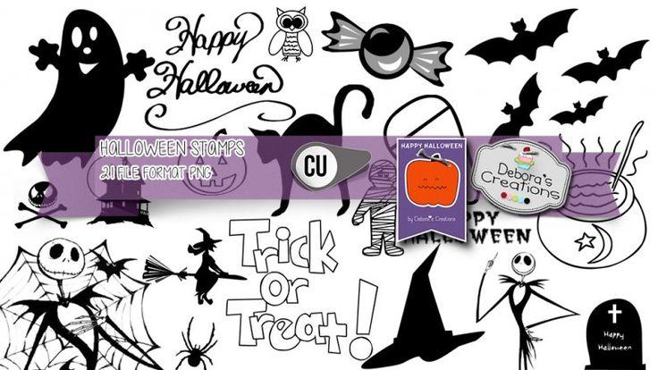 Halloween Stamps by Debora's Creations (CU)