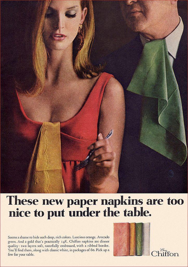 Chiffon Paper Napkins Ad, c1966   Flickr - Photo Sharing!