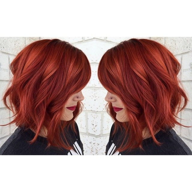 Hot copper red hair achieved from Aveda Color. Maybe I'll do something like this in my hair next time :)