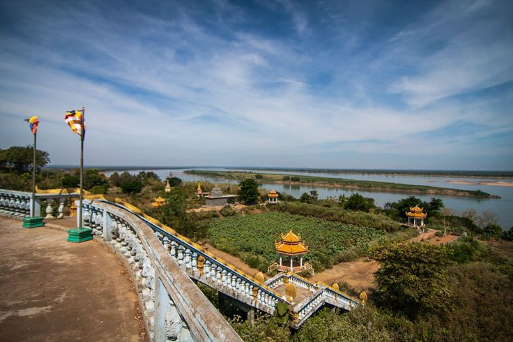 Phnom Hanchey on the Mekong, in Kampong Cham, Cambodia
