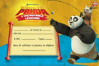 Carte d'invitation Shifu et Pô - Coloriages Kung Fu Panda - TFOU