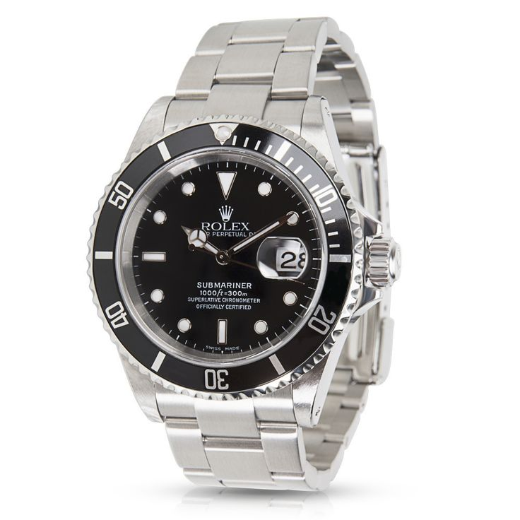 Refurbished Pre-Owned Rolex Submariner 16610 Mens Watch in Stainless Steel