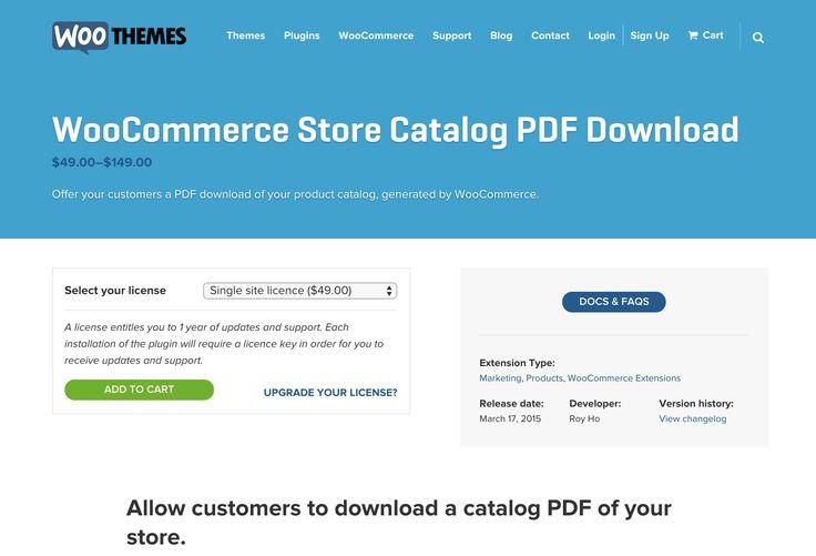 WooCommerce Store Catalog PDF #plugin http://www.woothemes.com/products/woocommerce-store-catalog-pdf-download/