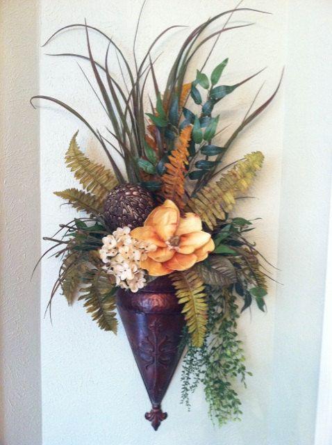 49 best sconces images on Pinterest | Flower arrangements ... on Decorative Wall Sconces For Flowers Arrangements id=33907