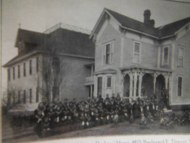 """In 1905 Mother Cabrini bought this farmhouse and created an all Girl's Orphanage called """"Queen of Peace Orphan's Home"""", 4825 Federal Blvd."""