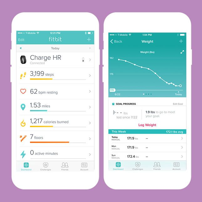 Track your day-to-day changes with the Fitbit app.