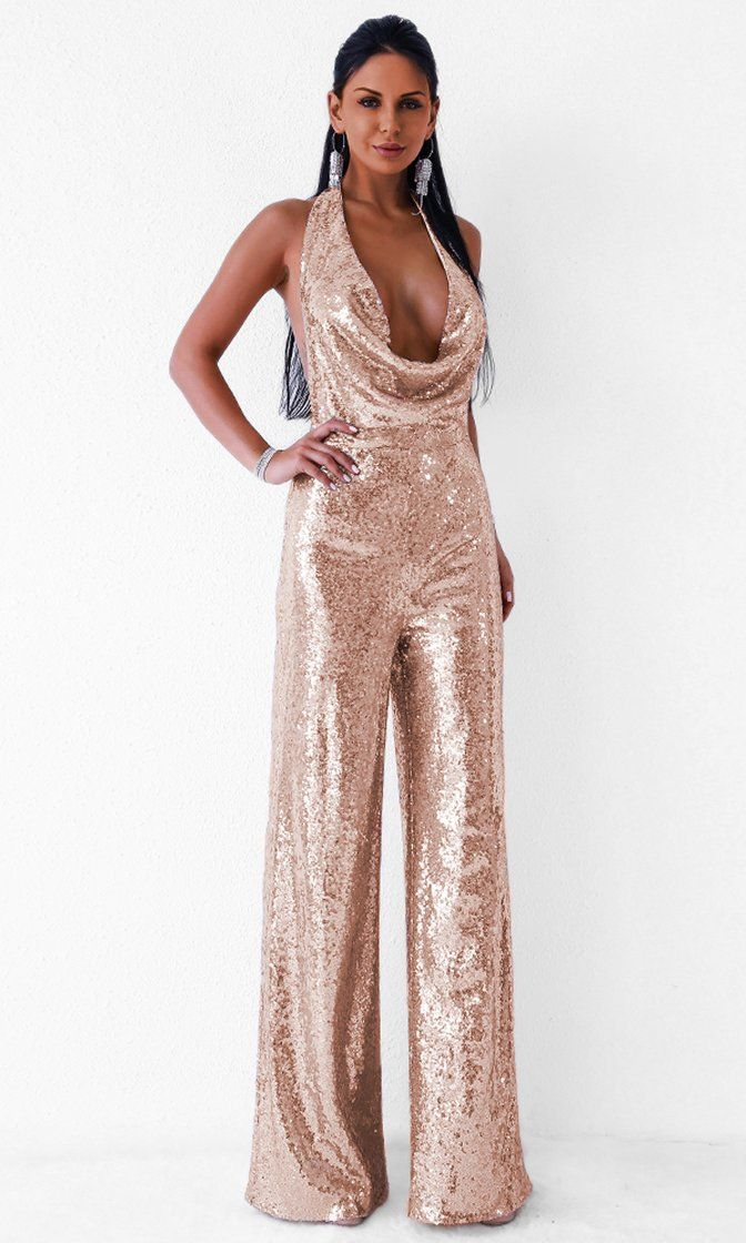 fef5def17889 Related image Sequin Jumpsuit