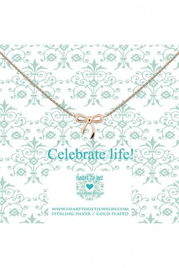 Heart to Get ketting Rose Gold Celebrate N22BOW12R | JewelandWatch.com