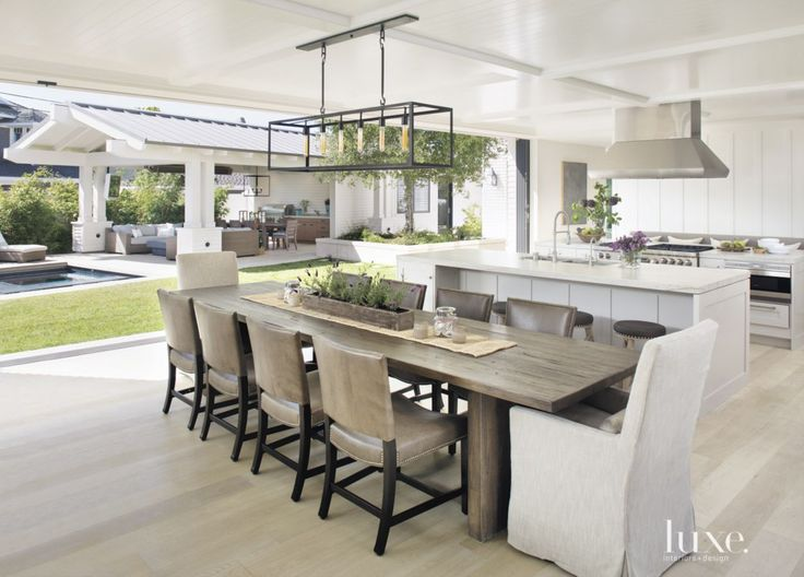 Contemporary White Kitchen Breakfast Area | LuxeSource | Luxe Magazine - The Luxury Home Redefined