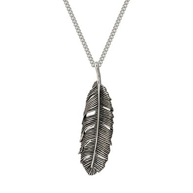 Silver and Some - Evolve - Necklace, Pendant Huia Feather Single Oxidised