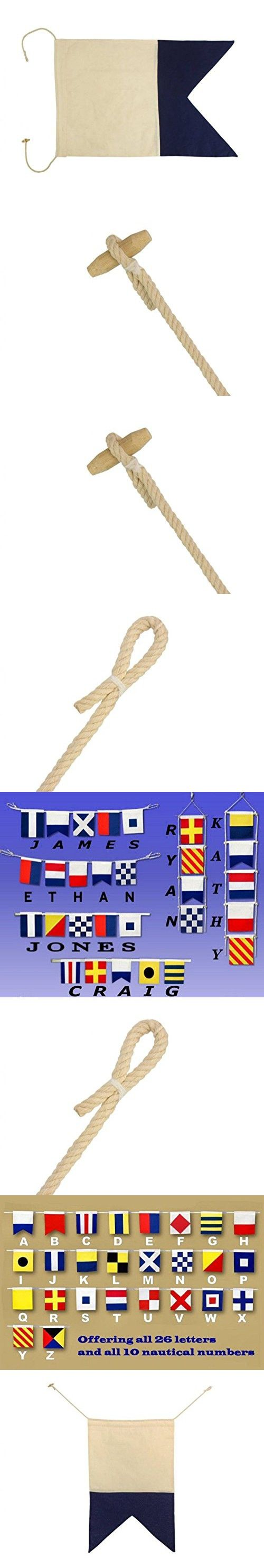 "Hampton Nautical  Letter A Nautical Cloth Alphabet Flag, Decor, Home Decoration, Wall Art Tool, 20"""
