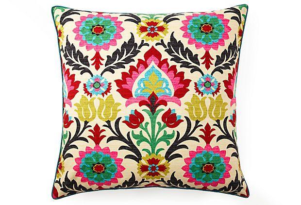 Santana 26x26 Cotton Pillow, Multi on OneKingsLane.com