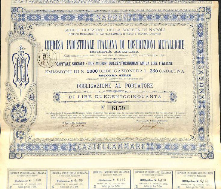 IMPRESA IND. ITALIANA DI COSTRUZIONI METALLICHE - #scripomarket #scriposigns #scripofilia #scripophily #finanza #finance #collezionismo #collectibles #arte #art #scripoart #scripoarte #borsa #stock #azioni #bonds #obbligazioni