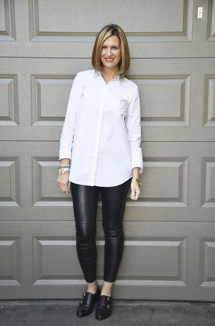 Ann Taylor Faux Leather Leggings