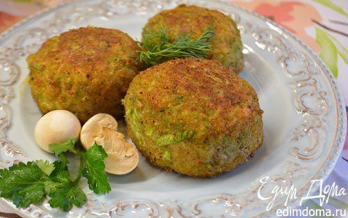 Кабачковые крокеты, фаршированные грибами   Кулинарные рецепты от «Едим дома!»