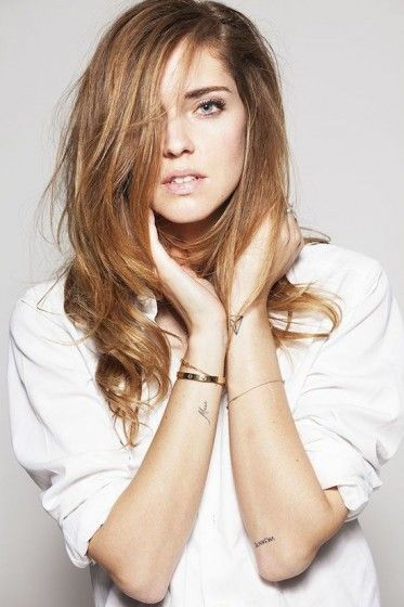 Chiara Ferragni. Tattoo inspiration selection from www.morganewho.com