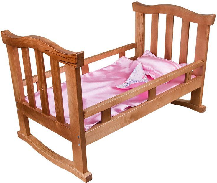 Кроватка деревянная для куклы