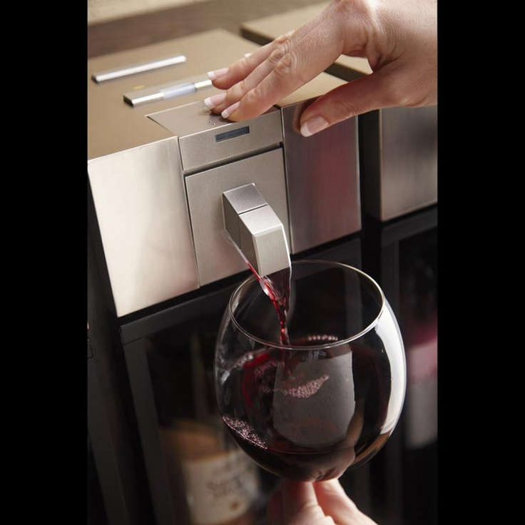 The skybar™ Wine System is the first home wine accessory to chill, pour and preserve from a single system. At the press of a button, the bottle is chilled to its ideal serving temperature, while patented vacuum technology naturally preserves your favorite wines for up to 10 days. Savor one perfect glass at a time.: Vacuum Technology, Button, Skybartm Wine, Kitchen, Bottle, Accessories, Products