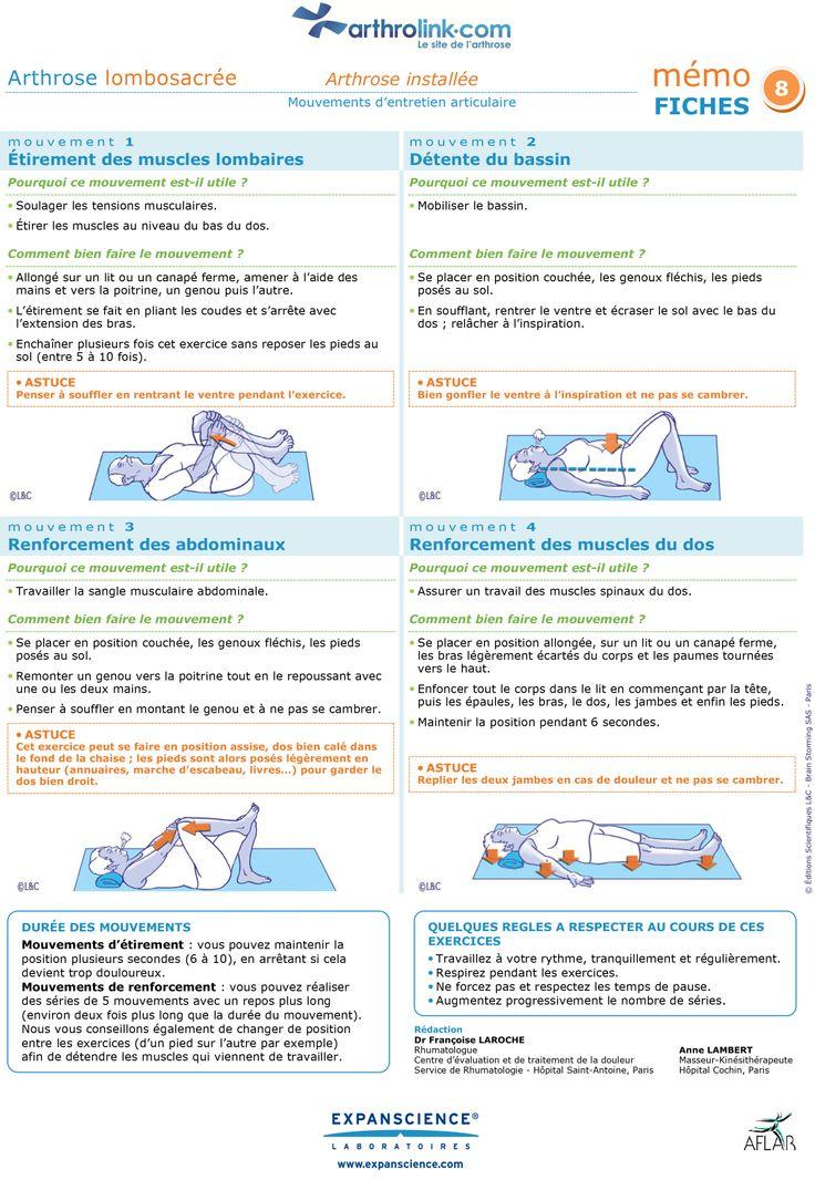 les 15 meilleures images propos de exercices pratiques pour arthrose install e entretien des. Black Bedroom Furniture Sets. Home Design Ideas