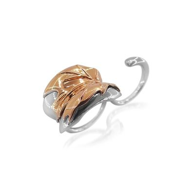Sterling silver double ring plated in rose gold |$100