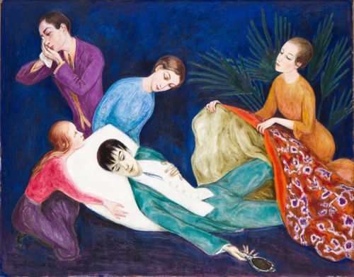Nils Dardel.  The Dying Dandy, 1918.  © Nils von Dardel/BUS 2011.  Photographer: Terje Östling.