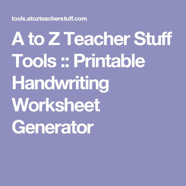 Printables Cursive Worksheet Maker 1000 ideas about handwriting generator on pinterest a to z teacher stuff tools printable worksheet generator