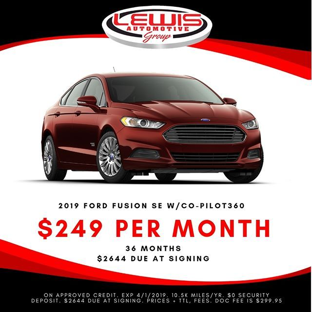Lease A New Ford Fusion For 249 Month From Lewis Ford