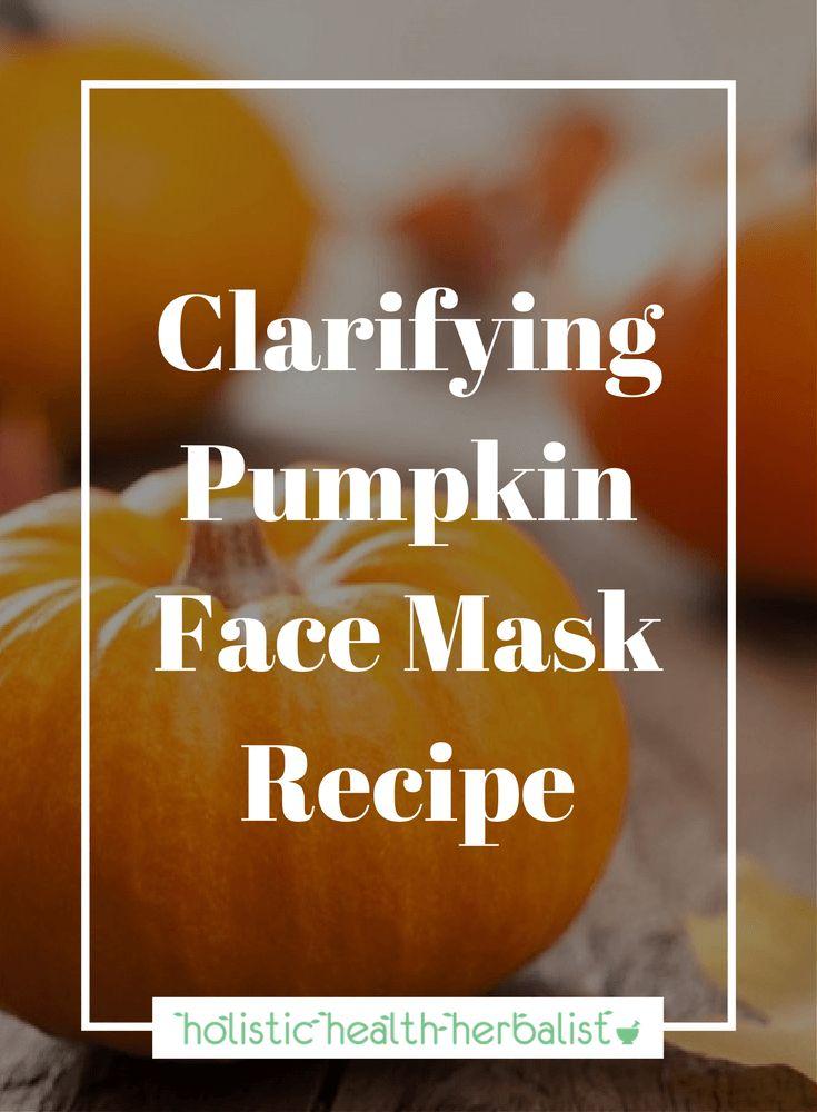DIY Clarifying Pumpkin Face Mask Recipe for bright, supple, clear skin. #facemask #pumpkinrecipe