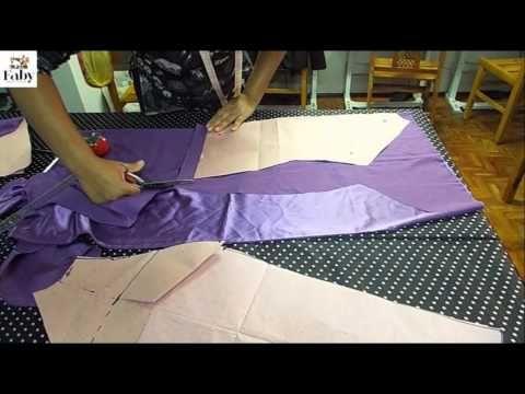 Como traçar e cortar uma manga raglan - Faby Corte e Costura