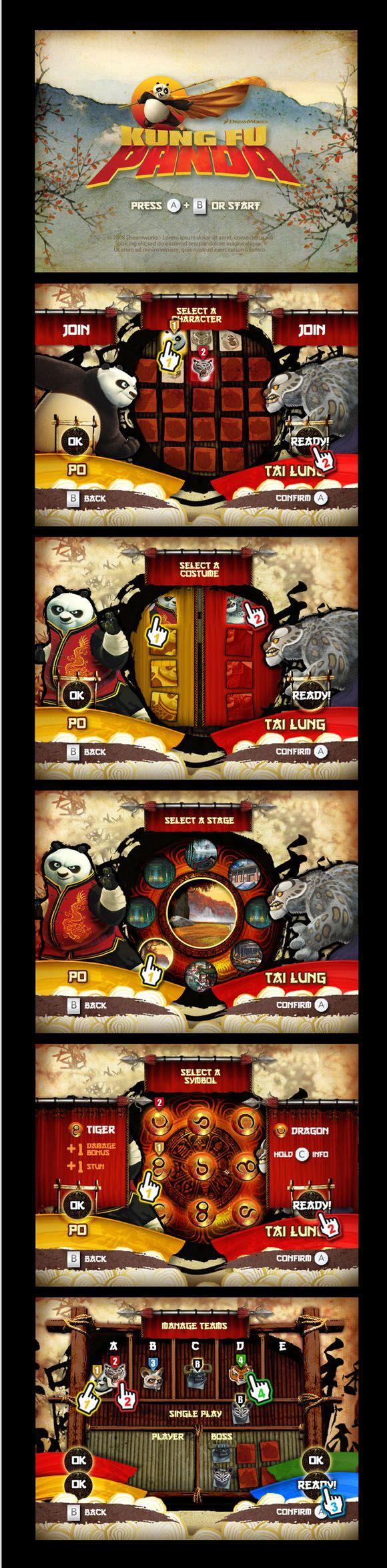 功夫熊猫 [GUI] |GAMEUI- 游戏设计圈聚集地 | 游戏UI | 游戏界面 | 游戏图标 | 游戏网站 | 游戏群 | 游戏设计