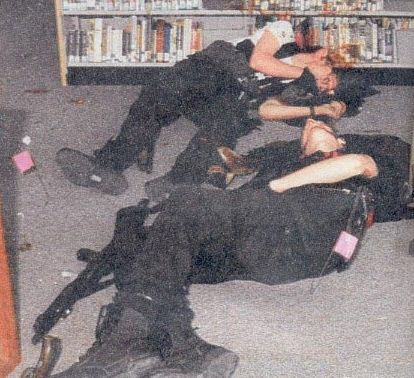 April 20th, 1999, Columbine high school Shooters Eric Harris and Dylan Klebold Dead of self inflicted GSW.