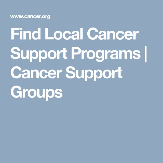 Find Local Cancer Support Programs | Cancer Support Groups