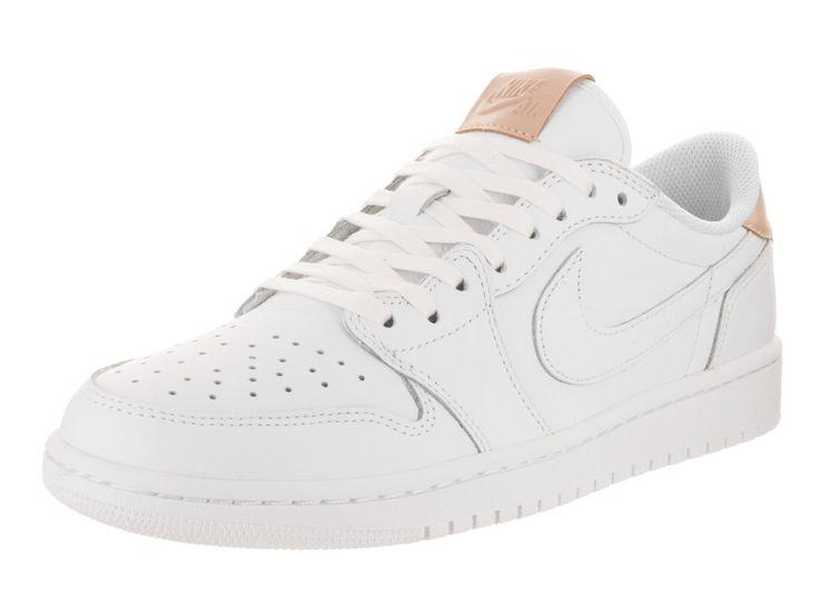 Nike Men's Air Jordan 1 Retro Low OG Prem White/Vachetta Tan White Basketball Shoe 11 Men US
