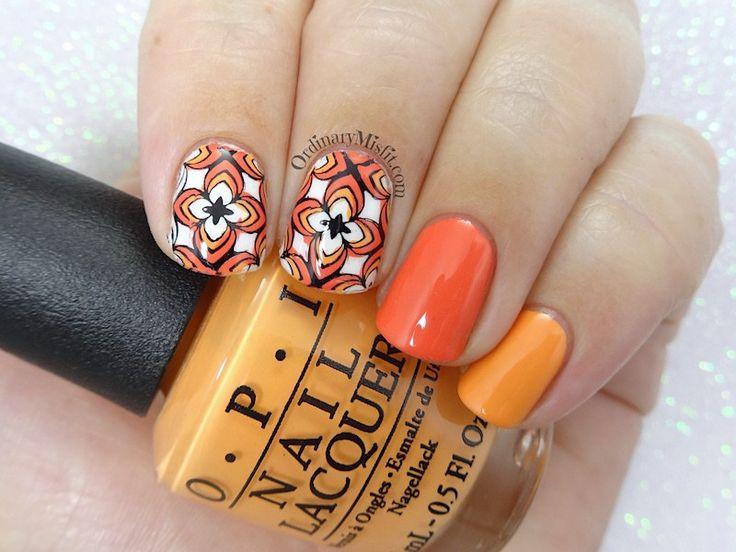 52 week nail art challenge - Week 35: Orange