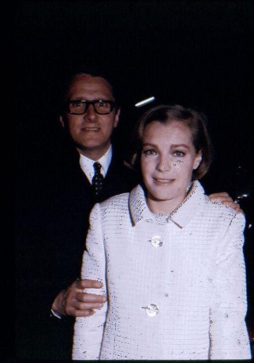 """ Romy Schneider and husband Harry Meyen, 1967 """