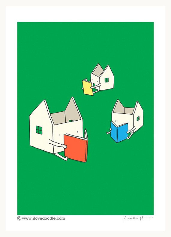 Every house has it's own story - Art print --- ilovedoodle in Malaysia