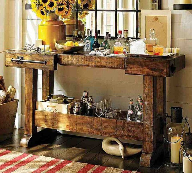 Home Rustic Decor stone kitchen island 40 rustic home decor ideas you can build yourself Find This Pin And More On Rustic Home Decor