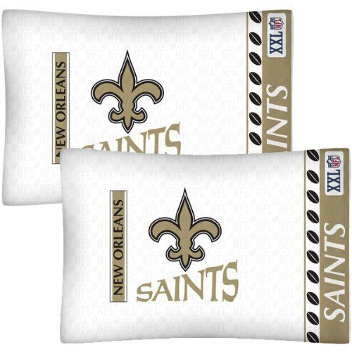 NFL New Orleans Saints Football Set of Two Pillowcases by NFL. $21.99. Machine washable. Super-soft microfiber!. Genuine licensed merchandise.. Standard pillowcases. Go with any size bed!. Two NFL New Orleans Saints standard pillowcases.. Two NFL New Orleans Saints logo standard pillowcases, finished size 20 x 30 inches (51 x 76 cm).. Save 27%!