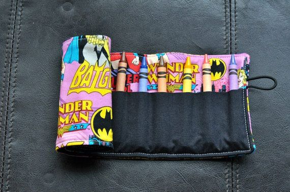 Supergirl Crayon Cozy/Roll Including by SpoonerSistersDesign, $15.00