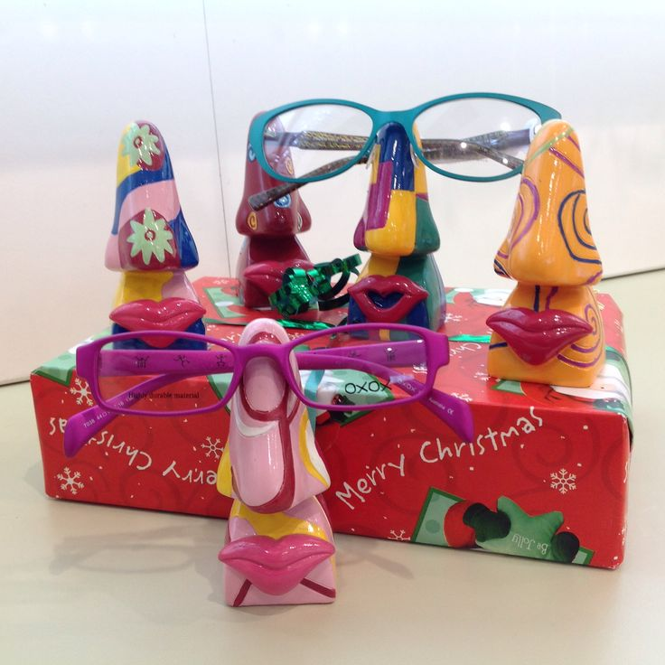 There is also a range of Picasso noses.  Perfect rest for the reading glasses, you'll always know where to find them!