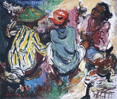 artist Barli Sasmitawinata (Bandung, Java 1921~2007)