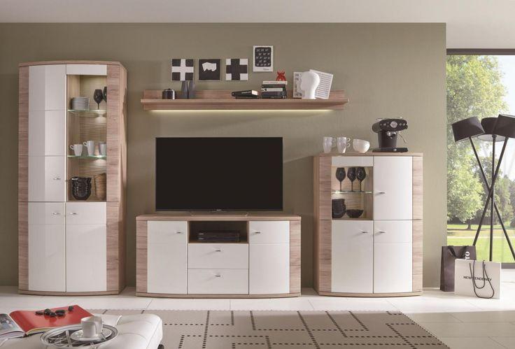 Attraktiv Wohnwand Modern Holz