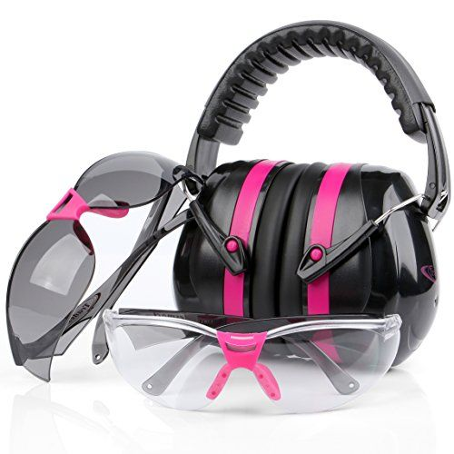 Tradesmart Pink Ear Muffs & Clear / Tinted Gun Safety Glasses - UV400 . Anti Fog & Anti Scratch with Microfiber pouch | Gun Range Ear Protection & Eye Protection for Shooting   https://huntinggearsuperstore.com/product/tradesmart-pink-ear-muffs-clear-tinted-gun-safety-glasses-uv400-anti-fog-anti-scratch-with-microfiber-pouch-gun-range-ear-protection-eye-protection-for-shooting/