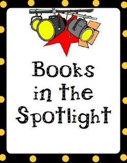 Spotlight on Books. Use to promote series, authors, genres, new releases, etc. Could use on the library doors or in display case?