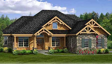 Plan 3883ja rustic house plan with walkout basement for Split level house plans with walkout basement