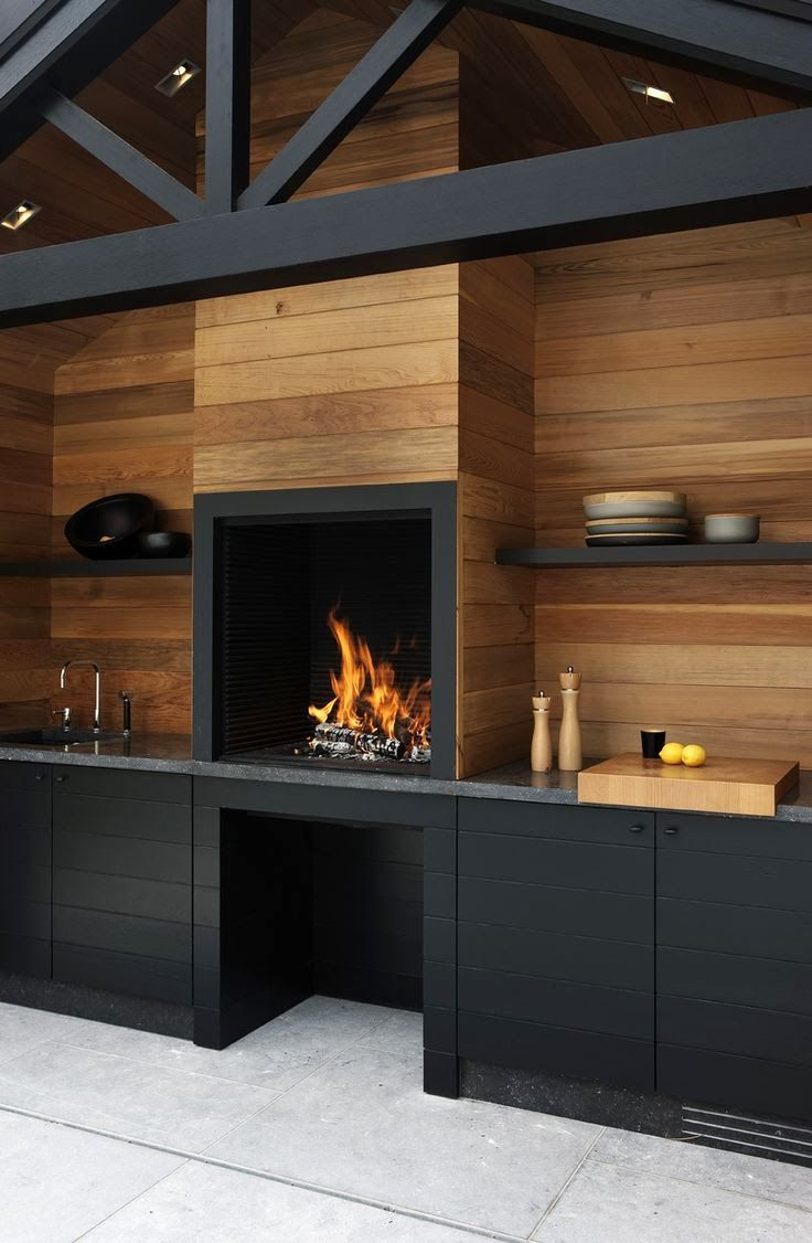 Association de bois et de couleur noir
